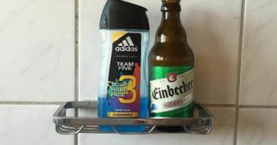 Duschgel und Bier