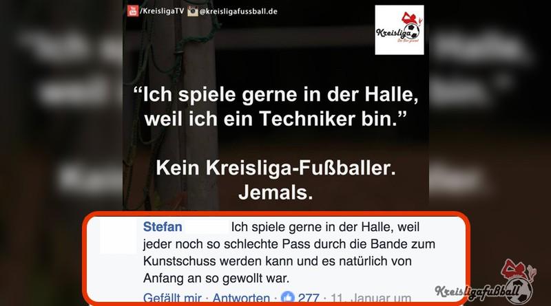 Kreisligafußball Top Kommentar Hallenfußball